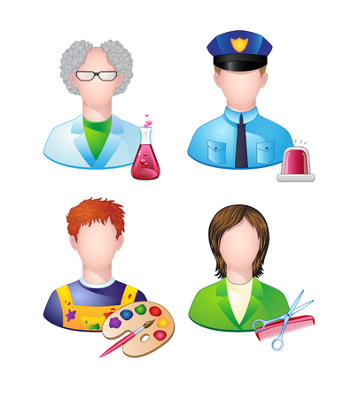 Set of icons with people profession. Vector. Stock Vector - 22960812