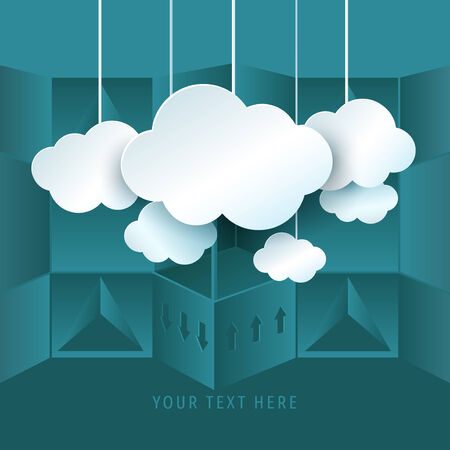 cloud computing: Cloud computing symbol and abstract backgroud. Vector Illustration. Illustration