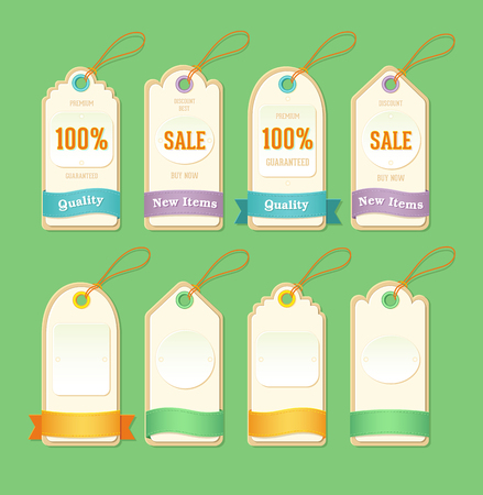 Price and sale retro style tags design, vector illustration.
