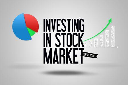 website header: Investing in Stock Market - Copy Space - Website - Template - Banner Illustration - Business - Finance - Header