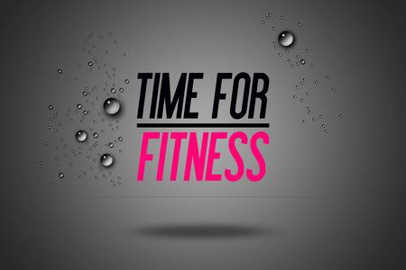 Time For Fitness - Adverteren Citaten Workout Sport - Motivatie - Fitness Center - MotievenCitaat - Sport Illustratie - Inspirerend - Card Calligraphy Art - Typografie Stockfoto