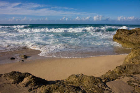 An idyllic Secret Beach on Nort Shore Oahu, Hawaii