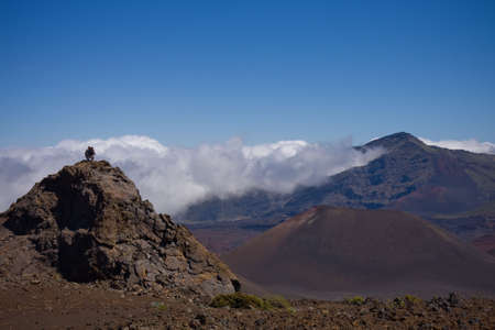 A scenic view of the breathtaking crater of the Haleakala Volcano - Haleakala National Park Maui, Hawaii