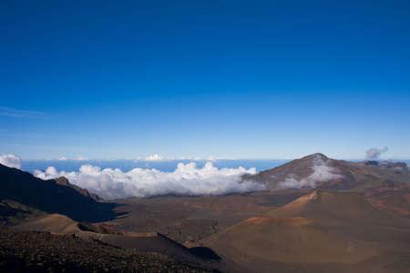 A scenic view of the breathtaking crater of the Haleakala Volcano. Haleakala National Park Maui, Hawaii.