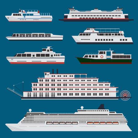 ferries: Passenger ships infographic Illustration