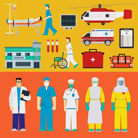 accident patient: Doctors, nurses and medical equipment