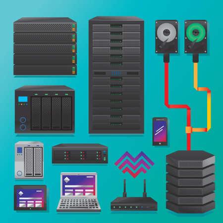 hardware: Servidores de datos grandes y hardware Vectores