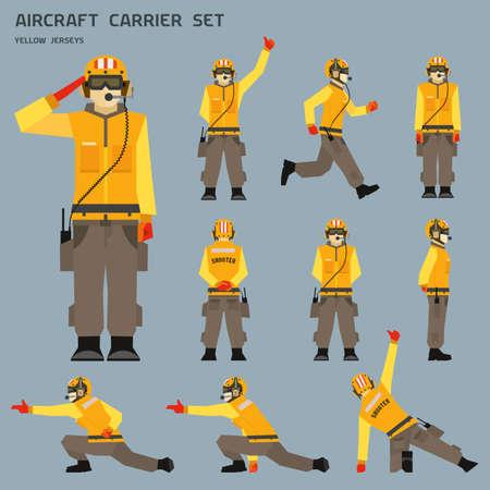 transporteur: signaux de tir de porte-avions Illustration