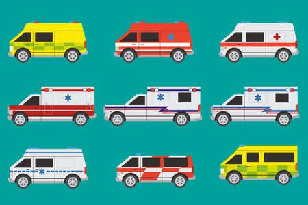ambulancia: Ambulancias internacionales con diferentes pintura