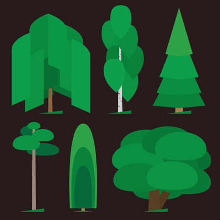 Different trees types graphic