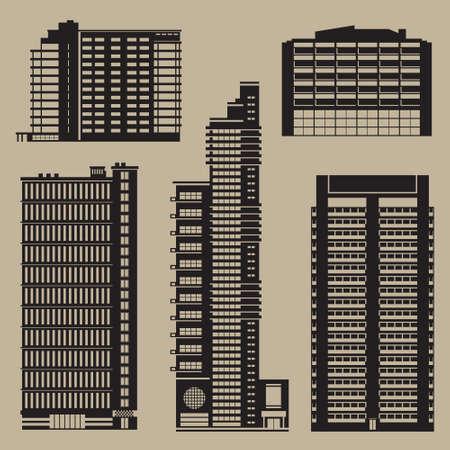 Diverse hoge gebouwen waaronder hotels en zakencentra