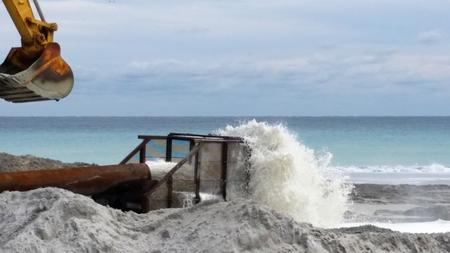 correction: Beach erosion correction repair Palm Beach County, Atlantic Ocean, Florida.