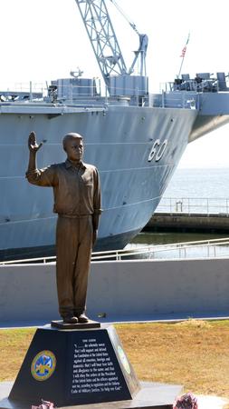 Statue Honoring American Veterans at WWII Naval Battle Ship, Battleship Memorial Park, Alabama
