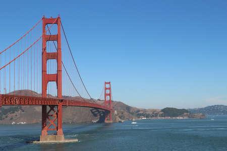 Golden Gate Brige in San Francisco USA Фото со стока