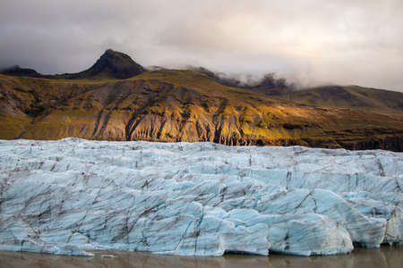 Glacier in Iceland is illuminated by sun Ice Reklamní fotografie