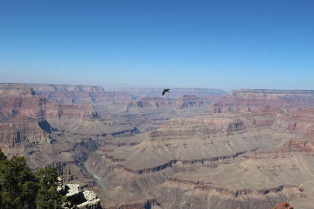 Grand Canyon National Park in the United States blue sky
