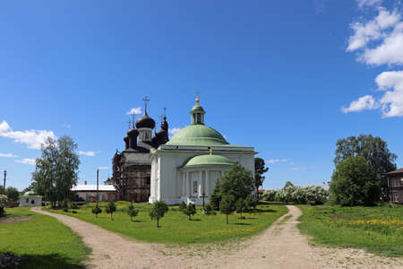 Orthodox Church in Goritsy, Russia monastery