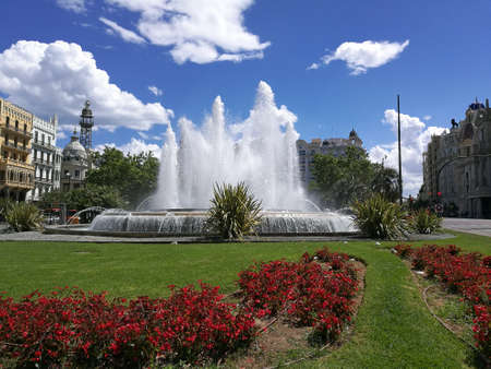 Fountains in Valencia Spain Travel Destination
