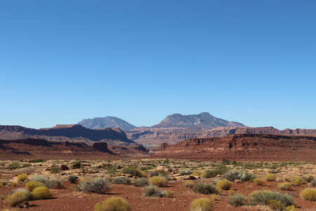 Landscape in Utah USA near Monument Valley