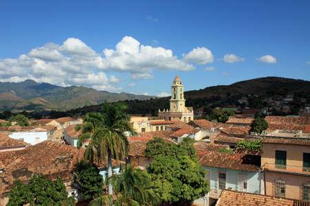 Widok na miasto Trynidad na Kubie malowniczy