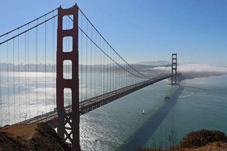 Golden Gate Bridge in San Francisco USA 스톡 콘텐츠
