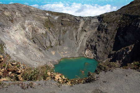 Irazu Volcano in Costa Rica Crater Lake
