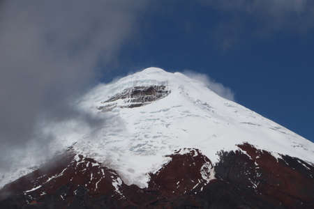 Peak of the Cotopaxi Volcano in Ecudaor travel 스톡 콘텐츠