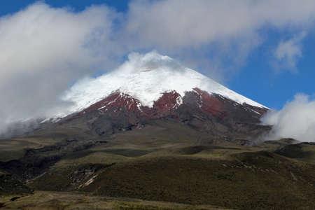 Cotopaxi Volcano in Ecuador snow