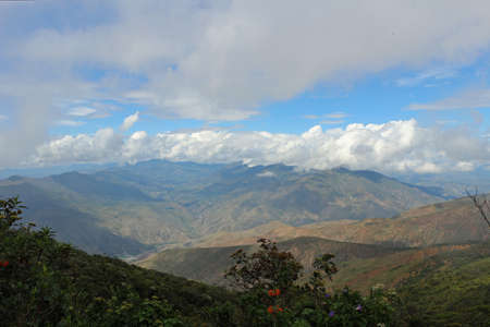 beautiful landscape near Vilcabamba in Ecuador treval