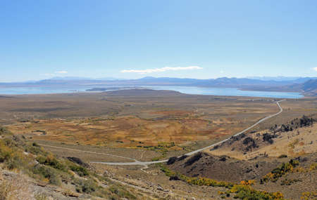 View over the valley of Mono Lake California