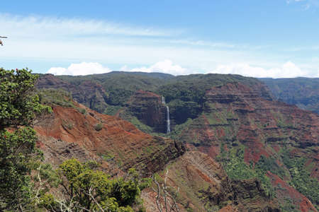 Waimea Canyon on the island of Kauai Hawaii
