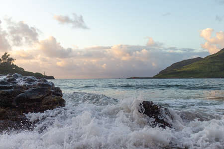 Dramatic Ocean at Sunrise