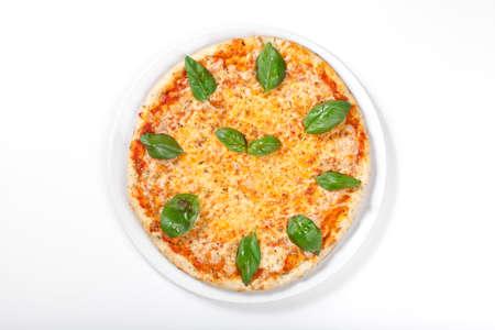 margherita: pizza margherita isolated