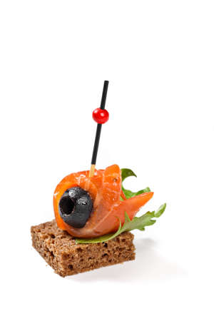 Canape with stick