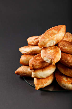 russian food: traditional russian food baking from dough