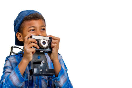interested: Young photographer looking for interesting point. Interested photographer.