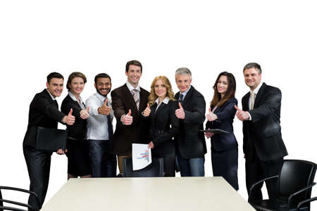 look up: Team leaders. Top managers are on a white background.