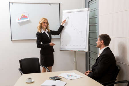 clerks: Clerks work on the project. Business partners. Stock Photo
