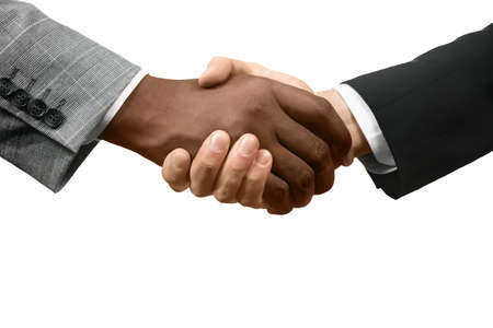 realtionship: Officials shake hands. A new start. Together we win. Equality and tolerance.
