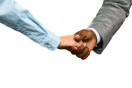 realtionship: Man and woman shaking hands. Welcome to the company. A pleasant meeting. Sign of respect.