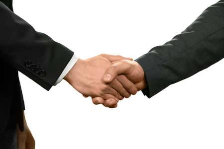 common goals: Two officials shake hands. The power of diplomacy. Negotiate and recruit. Common goals.