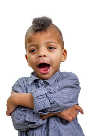 surprised kid: Surprised kid. Delight of little boy. Child learns.