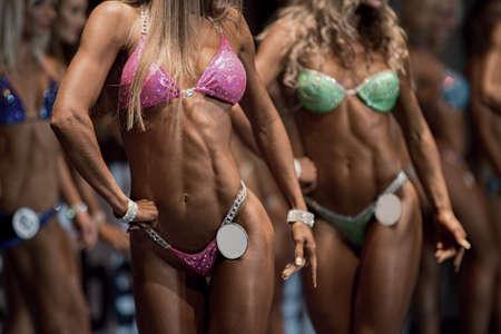 beauty contest: Beauty contest. Fitness bikini contest. Sexual body.