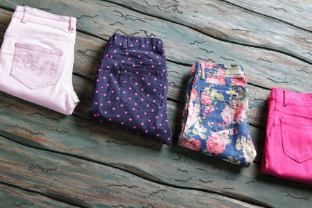 floral pattern trousers.