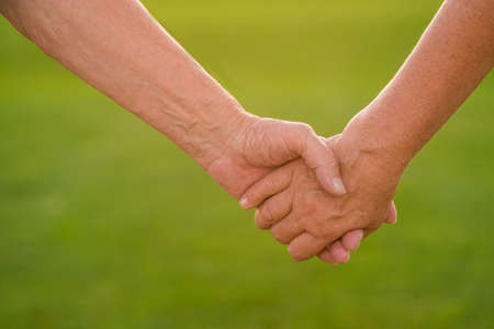 trust people: Hands of a senior couple. Two people holding hands. Devotion and trust. Together till the end.