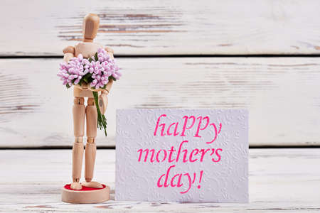 Mannequin and bunch. Spend Mothers day unforgettable. Stock Photo