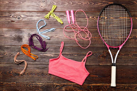 shoelace: Badminton racket and skipping rope. Disclose your motivation.