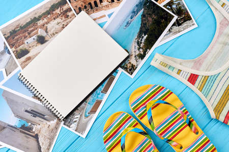 tummy time: Summertime accessories, photos of resorts. Time to note place for summer visit.