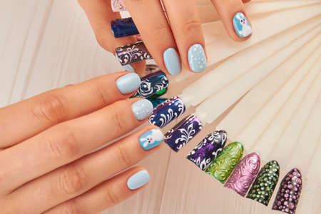 Beautiful Manicure And Nail Art Samples Female Hands With Perfect