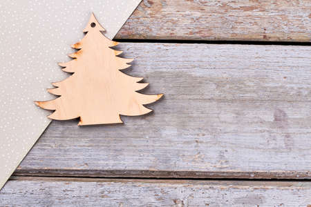 carved wooden christmas tree handmade wooden pendant christmas tree craft dotted paper on rustic - Rustic Wood Christmas Tree